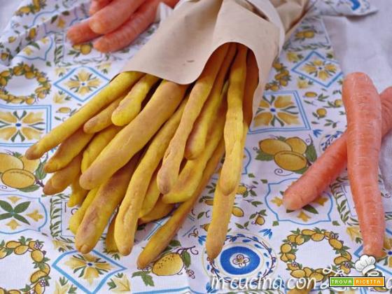 Grissini alle carote