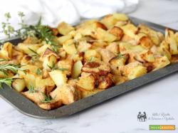 Bocconcini di pollo alla paprika con patate