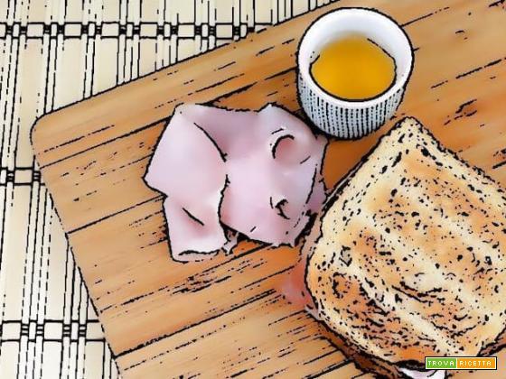 Toast prosciutto e formaggio ispirato dal libro La cucina incantata