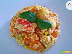 Cous Cous con Verdure, Pomodori e Tonno