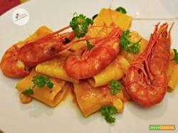 Paccheri con Pomodorini e Gambero Rosso