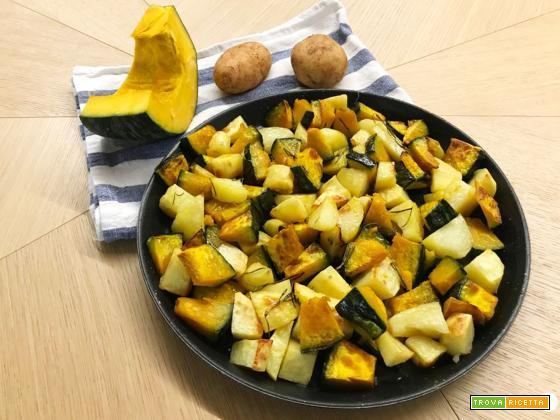 Zucca e patate al forno velocissime