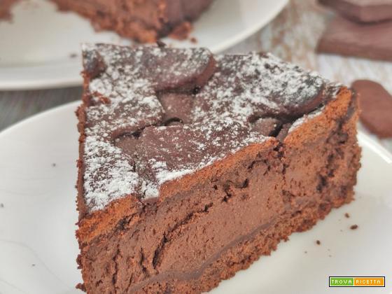 Crostata al Cacao ripiena di Ricotta e Cioccolato Fondente