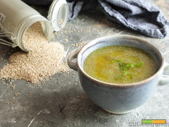 Zuppa di finocchi e semi di chia
