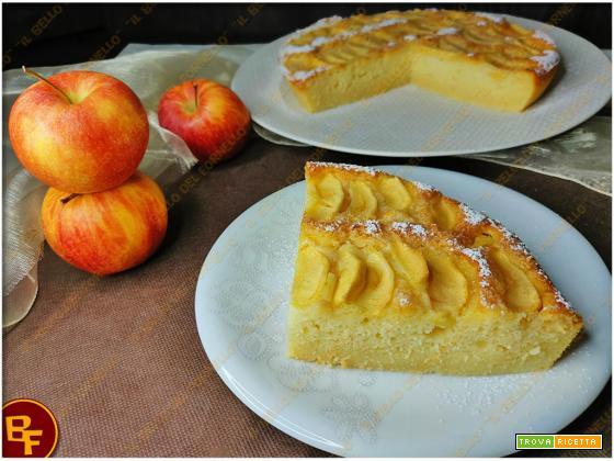Torta di mele e ricotta senza farina