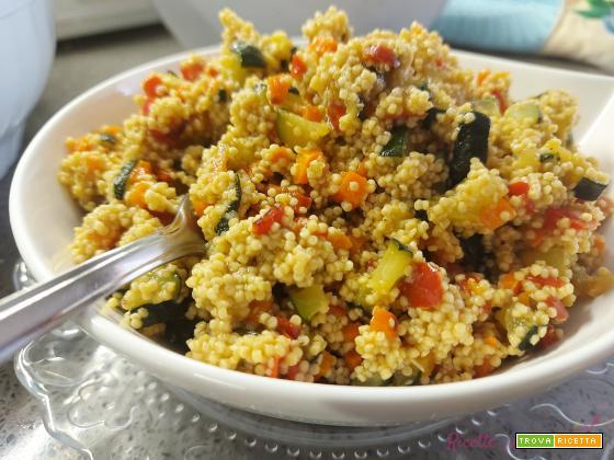 Cous cous di legumi con ortaggi al forno