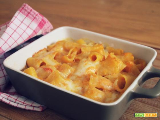 Pasta ai 4 formaggi e zucca